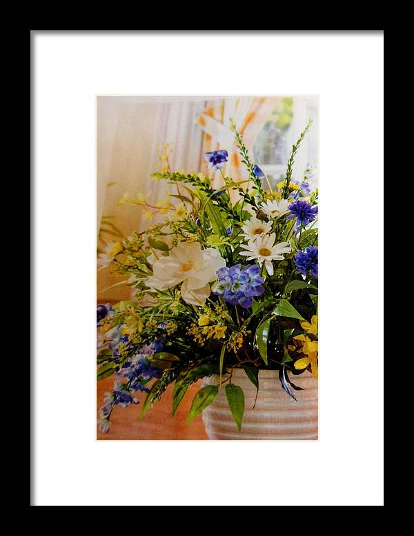 Flowers Framed Print featuring the photograph Spring Flowers by Lord Frederick Lyle Morris - Disabled Veteran