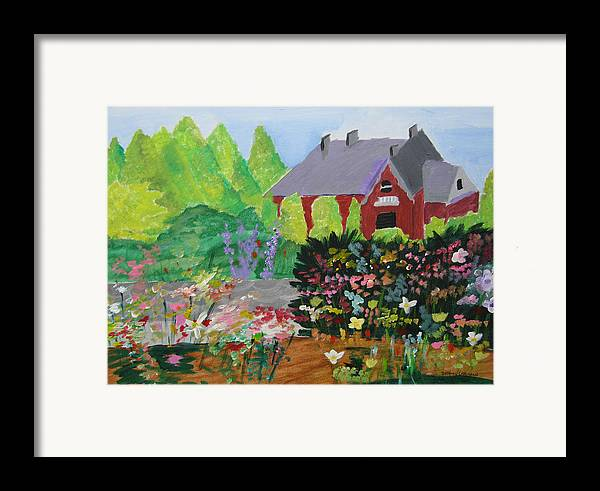 Gardens Framed Print featuring the painting Spring Garden by Jeff Caturano