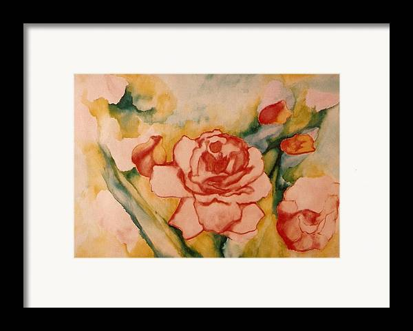 Blooms Artwork Framed Print featuring the painting Spring Garden by Jordana Sands