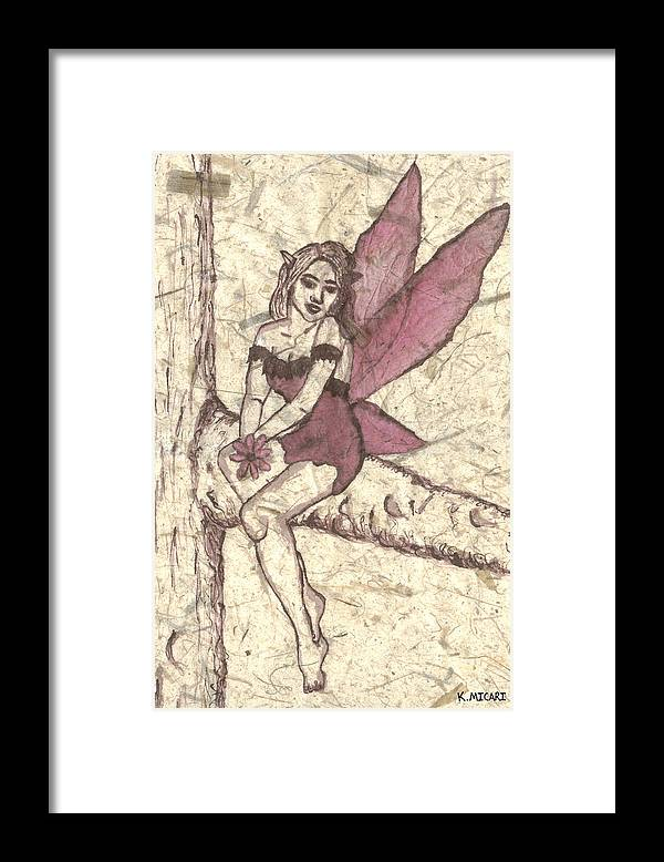 Fairy Framed Print featuring the painting Spring Hope by Kat Micari