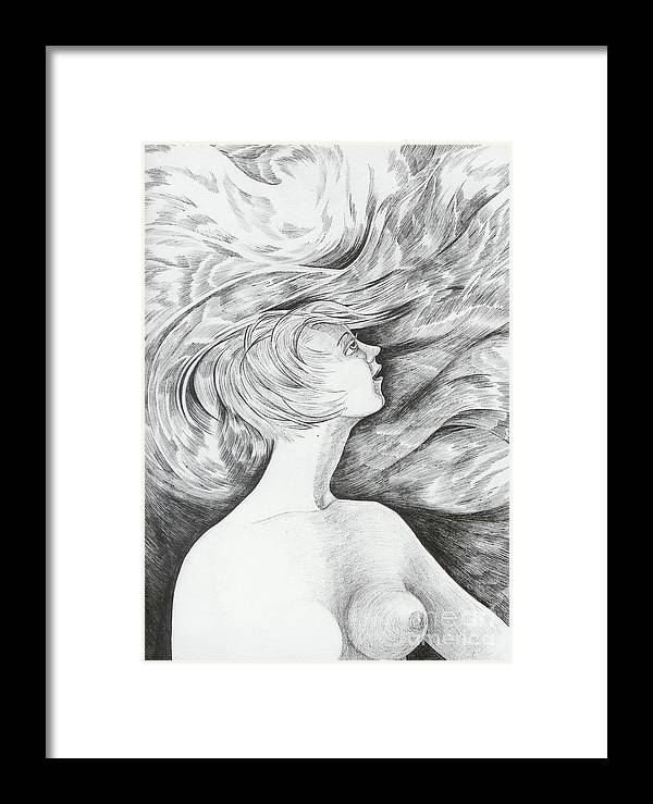 Fantasy Framed Print featuring the drawing Spring I by Anna Duyunova