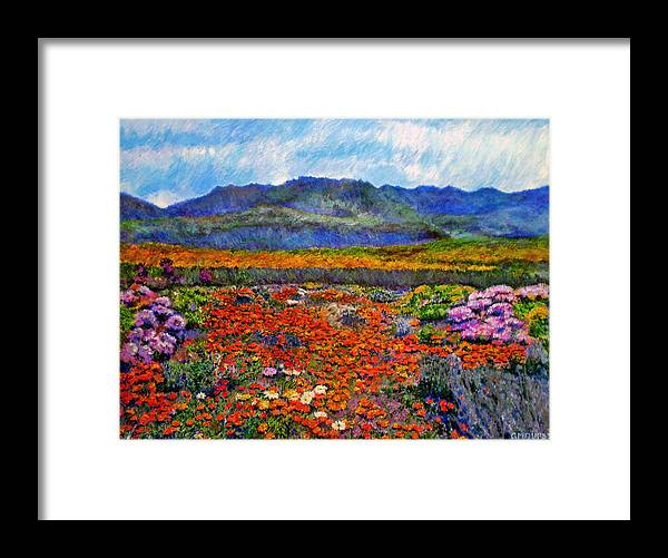 Spring Framed Print featuring the painting Spring In Namaqualand by Michael Durst