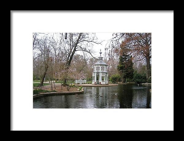 Landscape Framed Print featuring the photograph Spring In The Aranjuez Gardens Spain by Valerie Ornstein