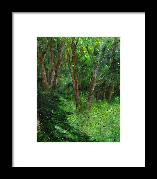 Forest Framed Print featuring the painting Spring In The Forest by FT McKinstry