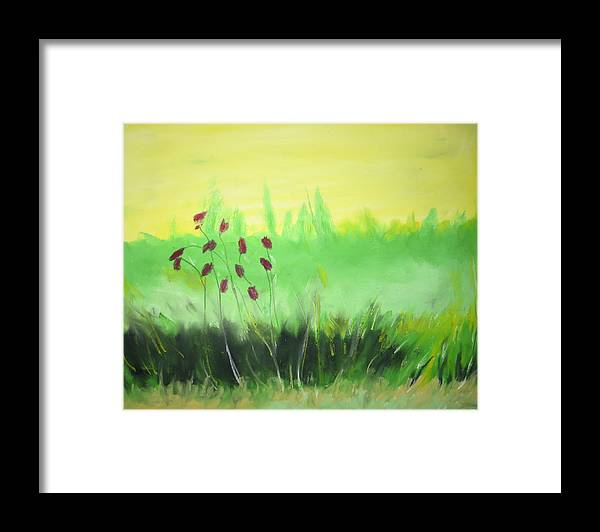 Framed Print featuring the painting Spring by Ingrid Torjesen