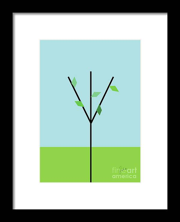 Green Framed Print featuring the digital art Spring Is Comming by Fady Dow