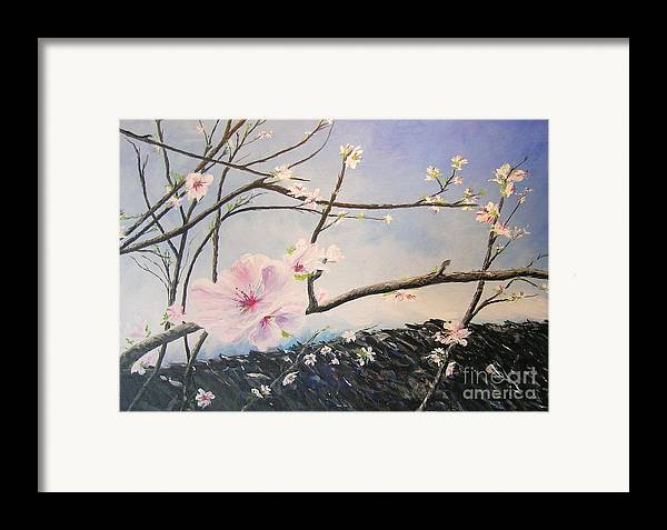 Flower Framed Print featuring the painting Spring Is In The Air by Lizzy Forrester