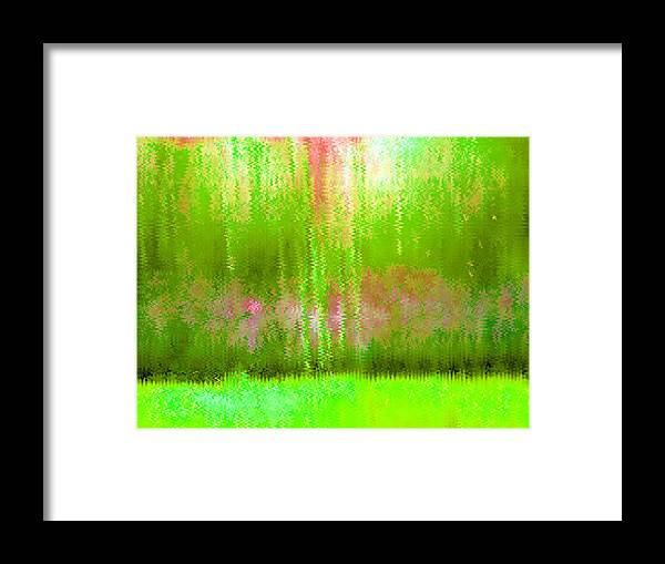Pink Framed Print featuring the painting Spring Light by Vicky Brago-Mitchell