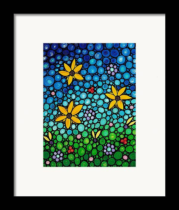 Floral Framed Print featuring the painting Spring Maidens by Sharon Cummings