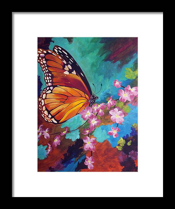 Butterfly Framed Print featuring the painting Spring Morning by Karen Dukes