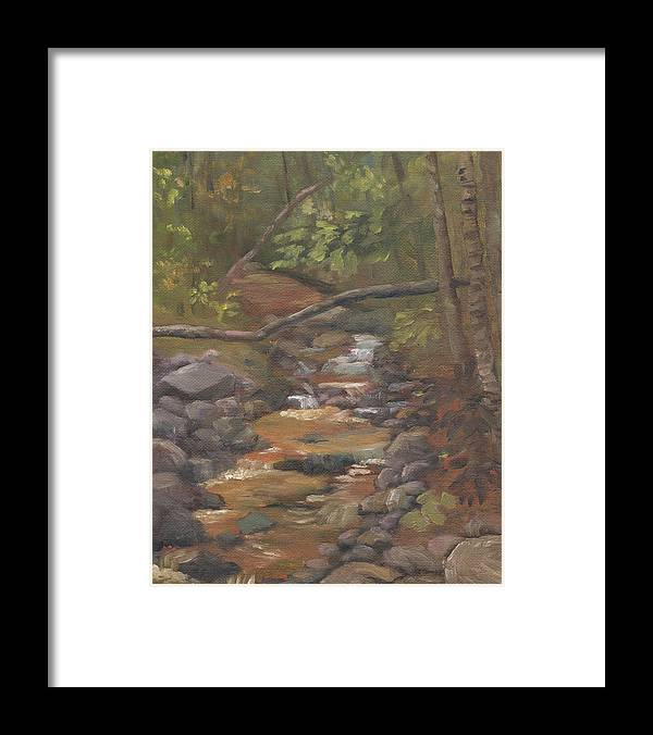 Waterfall Framed Print featuring the painting Spring on the Gale River by Sharon E Allen