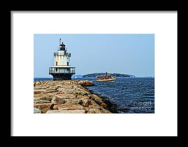 Framed Print featuring the photograph Spring Point Ladge Lighthouse - Maine by Zbigniew Krol