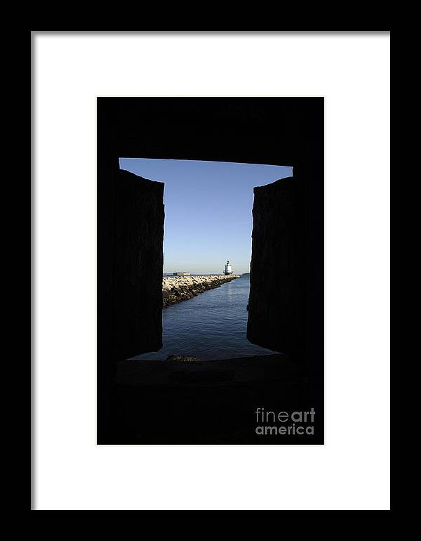 Maine Framed Print featuring the photograph Spring Point Ledge Light - Portland Mane Usa by Erin Paul Donovan