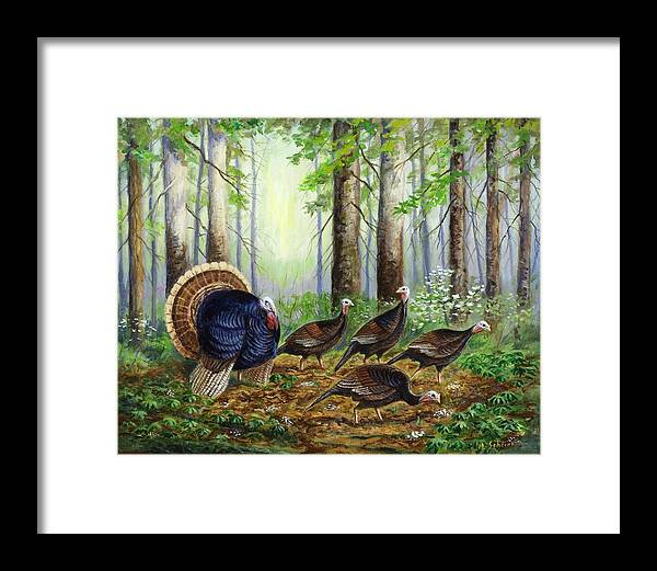 Wildlife Painting Framed Print featuring the painting Spring Ritual by Michael Scherer