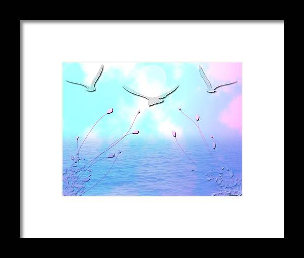 Ocean Framed Print featuring the digital art Spring Seas by Evelyn Patrick
