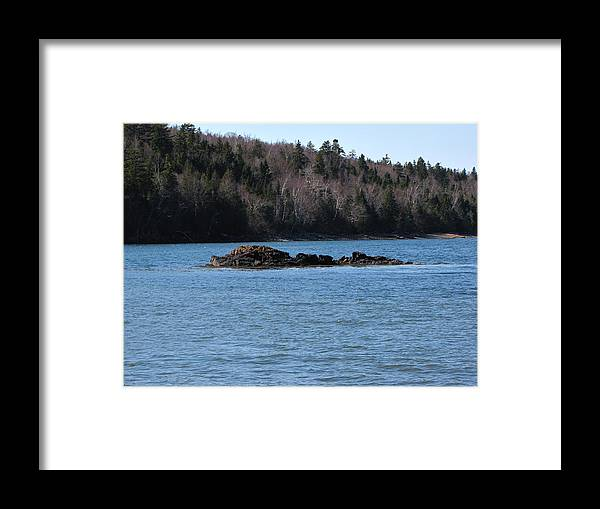 Seascape Framed Print featuring the photograph Spring Seascape by Melissa Parks