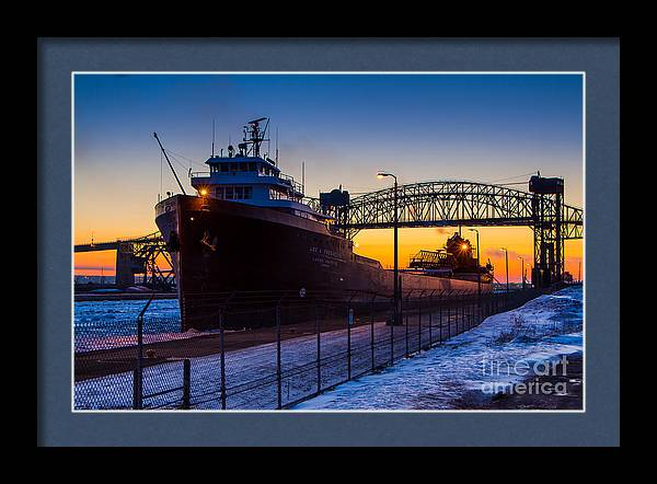 Spring Sunrise At Soo Locks   Lee A Tregurtha 5627 by Norris Seward
