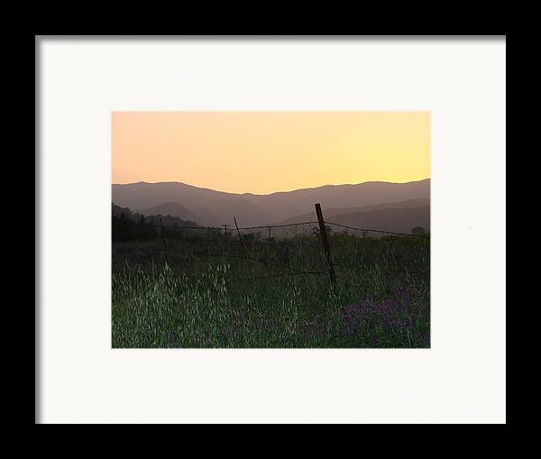 Sunset Framed Print featuring the photograph Spring Sunset by Liz Vernand
