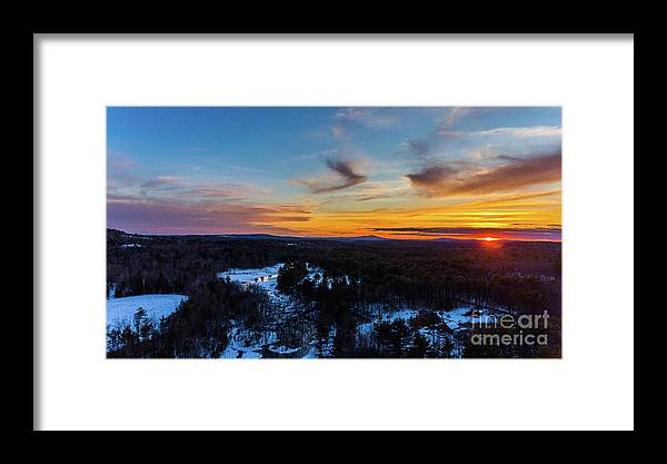 Nh Framed Print featuring the photograph Spring Sunset by Mim White