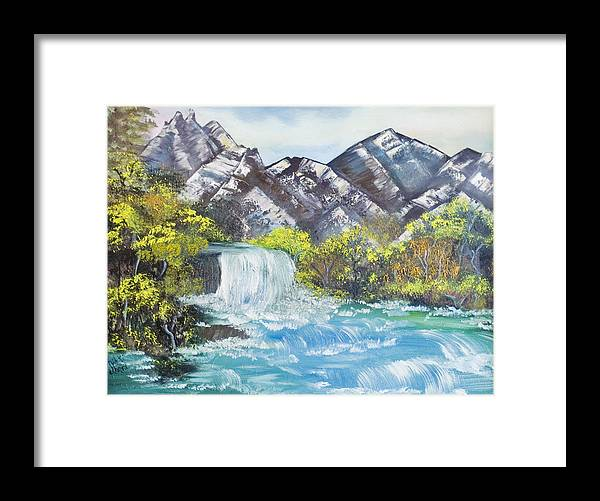Oil Framed Print featuring the painting Spring Thaw by Mikki Alhart