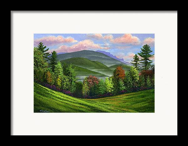 Landscape Framed Print featuring the painting Spring Time by Frank Wilson