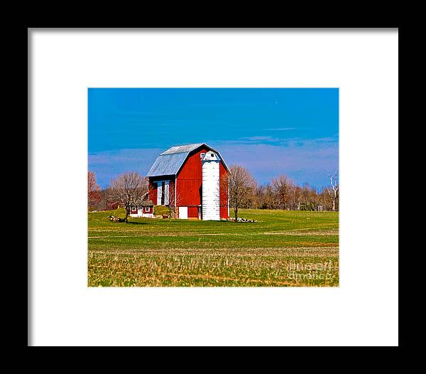 Barn Framed Print featuring the photograph Spring Time On The Farm by Robert Pearson