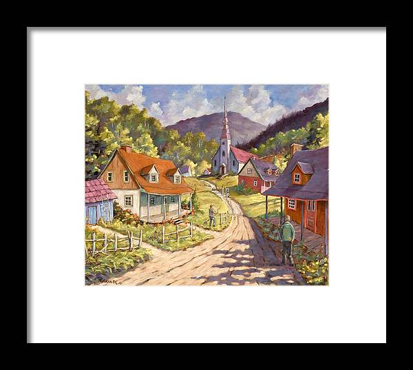 Art Framed Print featuring the painting Spring Time Sun by Richard T Pranke