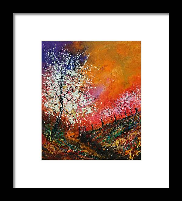 Spring Framed Print featuring the painting Spring Today by Pol Ledent