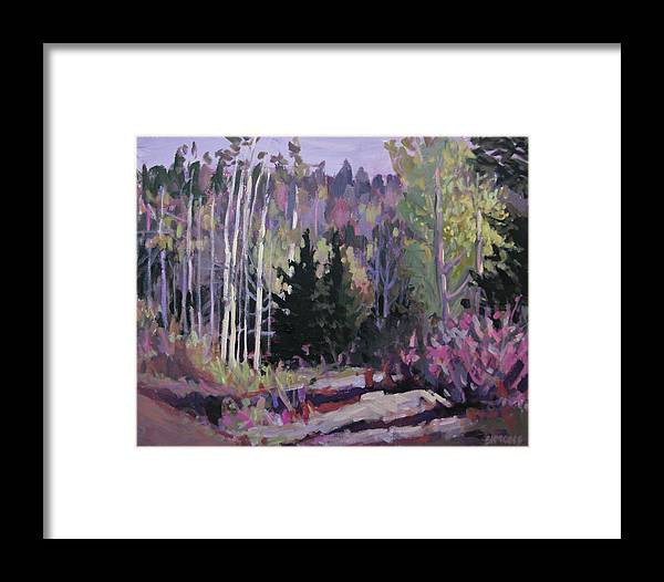 Paintings Framed Print featuring the painting Spring Trail by Brian Simons