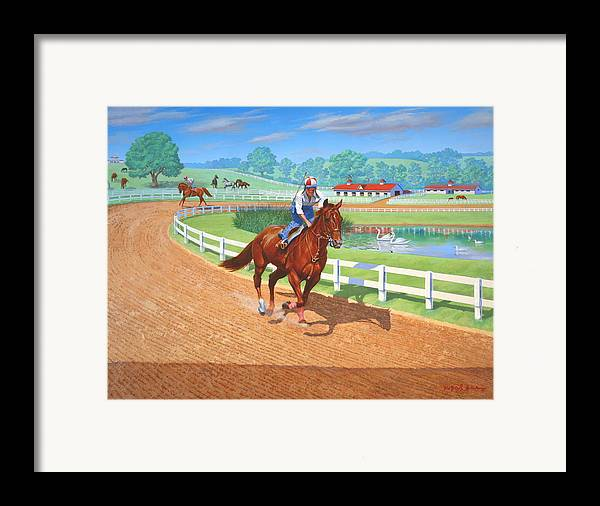 Western Artist Framed Print featuring the painting Spring Training by Howard Dubois