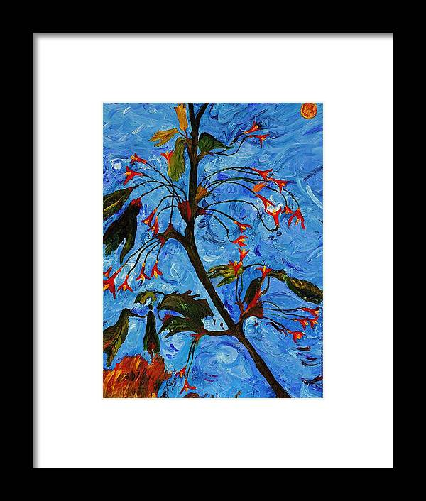 Flowers Framed Print featuring the painting Spring Tree by Modern Impressionism