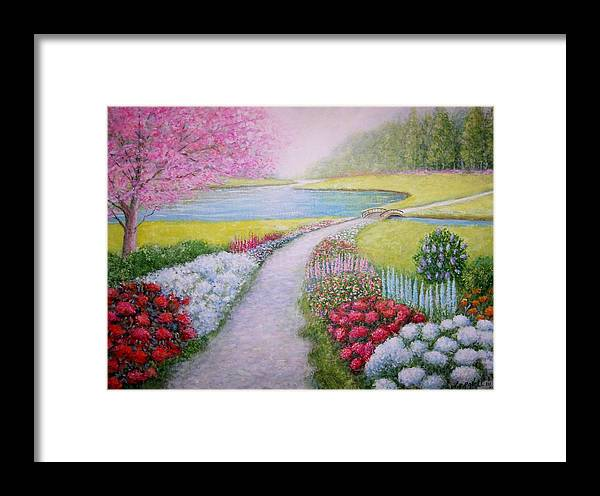 Landscape Framed Print featuring the painting Spring by William H RaVell III