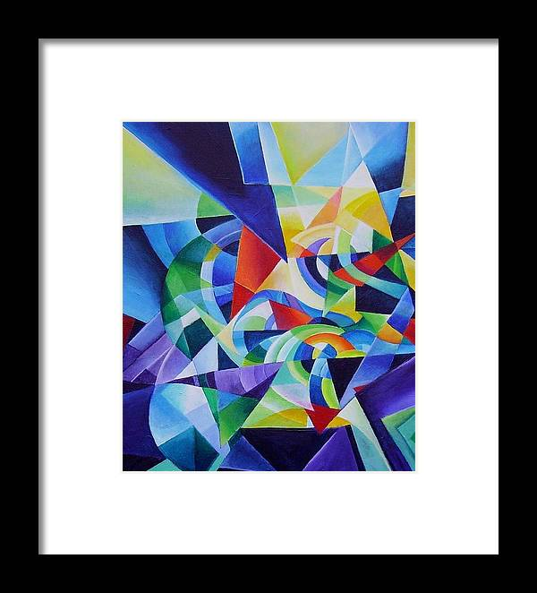 Spring Antonio Vivaldi Acrylic Abstract Music Four Seasons Framed Print featuring the painting Spring by Wolfgang Schweizer