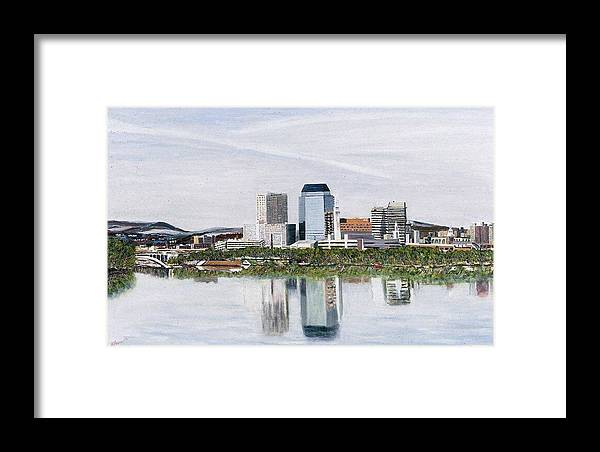 Reflections Framed Print featuring the painting Springfield Reflections by Richard Nowak