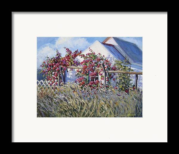 Tropical Island Landscape Framed Print featuring the painting Springs Whisper by L Diane Johnson