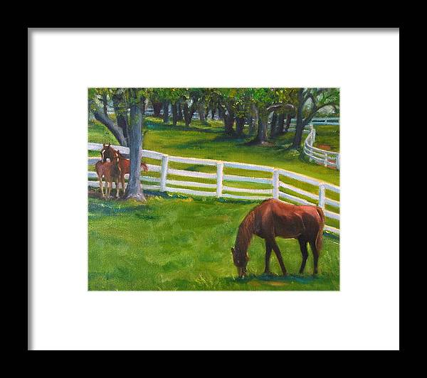 Equine Framed Print featuring the painting Springtime at Undulata by Stephanie Allison