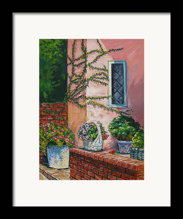 Pink Framed Print featuring the painting Springtime by Karen Doyle