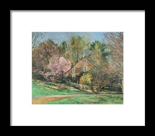 Spring Framed Print featuring the painting Springtime On Longhill by Robert Tutsky