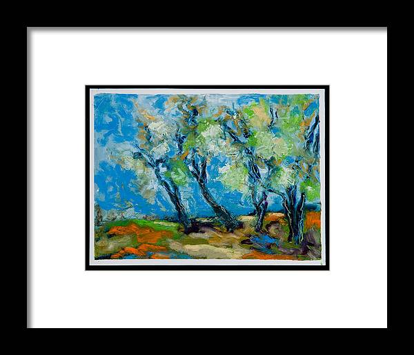 Landscape Framed Print featuring the painting Springtime by Roger Couture