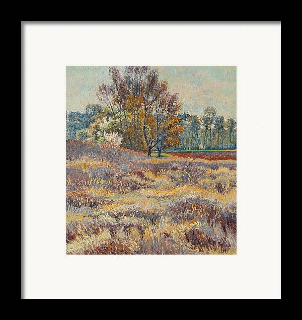 Landscape Framed Print featuring the painting Springtime by Vitali Komarov