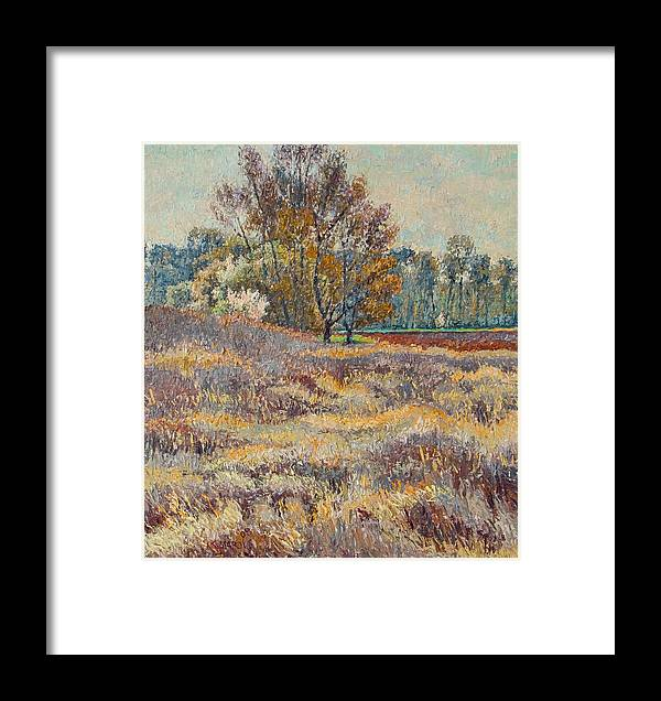 Landscape Framed Print featuring the painting Springtime by Vitali Komarov