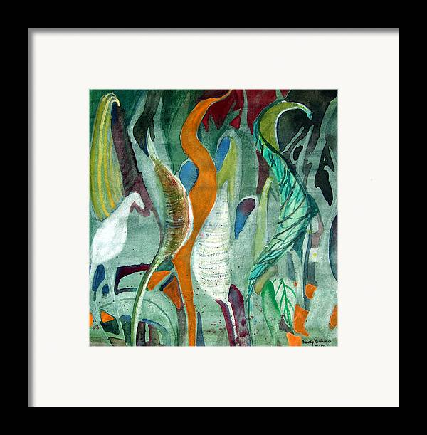 Leaves Framed Print featuring the painting Sprout by Mindy Newman