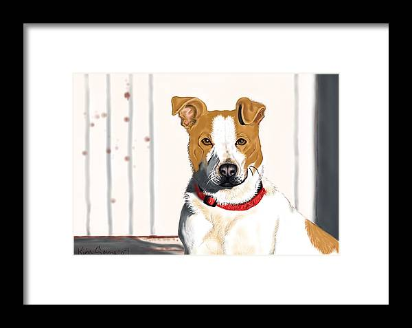 Dogs Framed Print featuring the painting Spur by Kim Souza