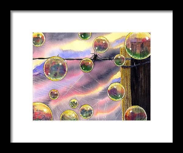 Bubbles Framed Print featuring the painting Spyder by Catherine G McElroy