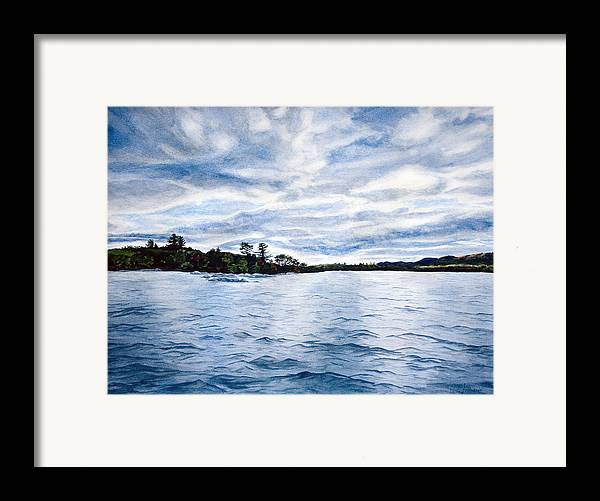 Seascape Framed Print featuring the painting Squam Lake by Monika Degan