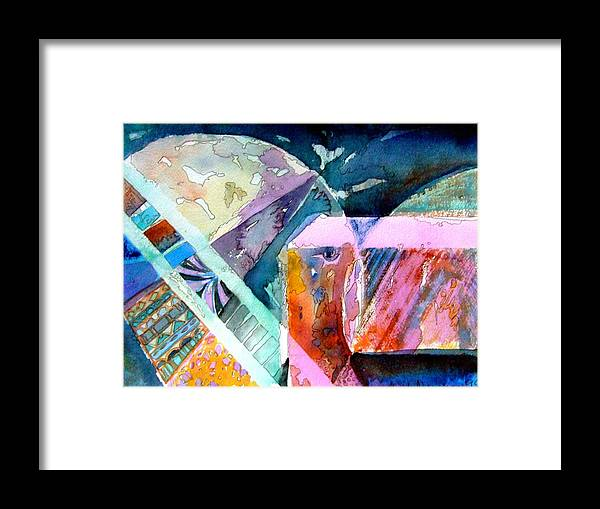 Abstract Framed Print featuring the painting Square Root I by Mindy Newman