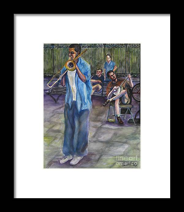 New Orleans Framed Print featuring the painting Square Slide by Beverly Boulet