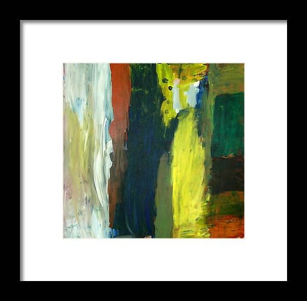 Abstract Framed Print featuring the painting Squares by Danny Pike