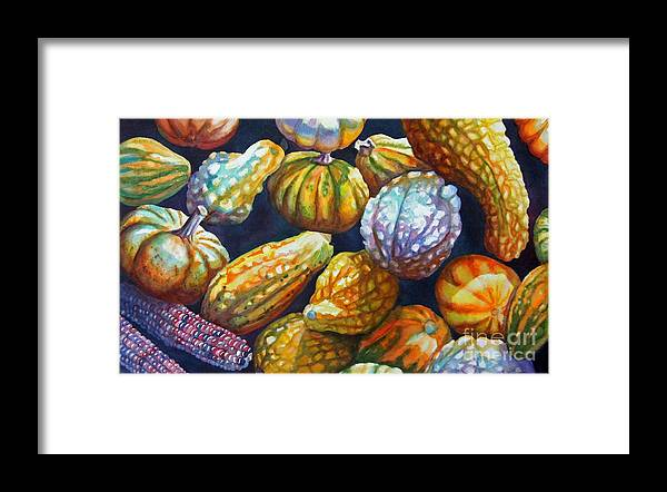 Still Life Framed Print featuring the painting Squash by Gail Zavala
