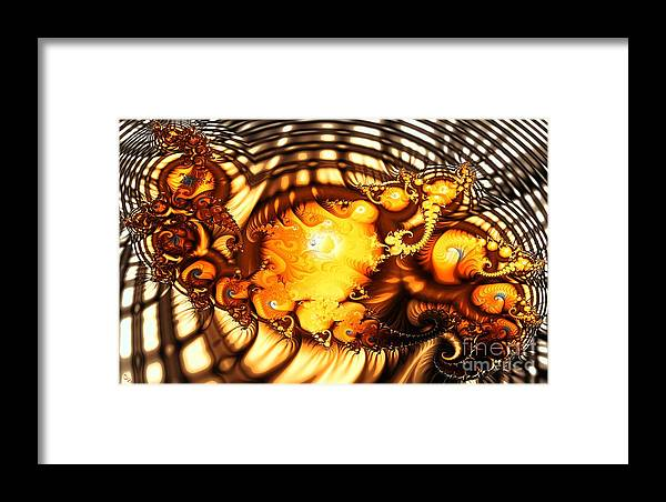 Squirm Framed Print featuring the digital art Squirm by Ron Bissett